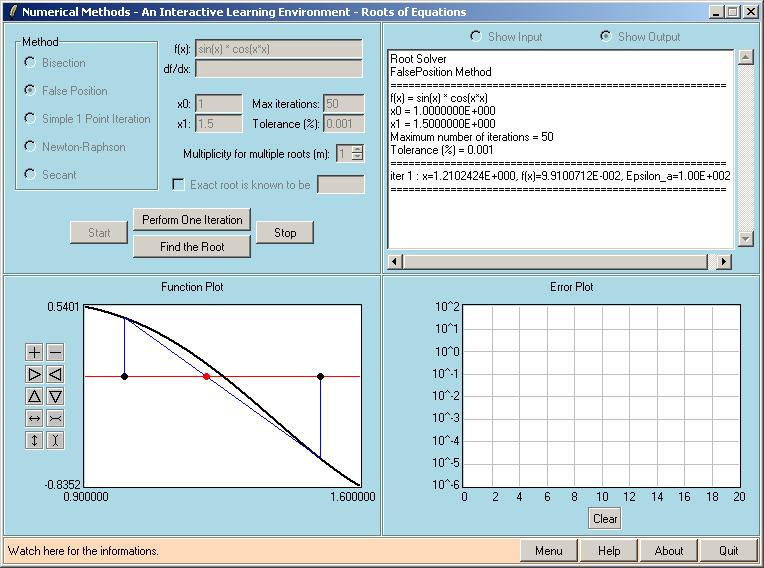 EasyNumerics - Educational Software for Numerical Methods