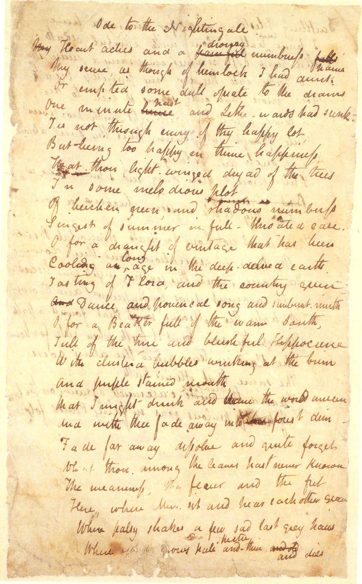 escaping reality in ode to a nightingale by john keats John keats, a poet of the romantic era, composed this poem in the spring of 1819 being a poet of the romantic era, he was a nature lover, but instead of looking at nature as a guide or teacher, he was in pursuit of beauty within nature.